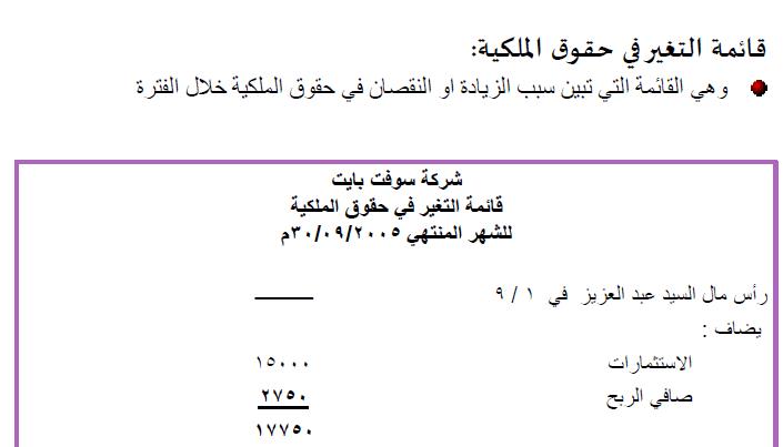 Photo of قائمة التغيرات في حقوق الملكية pdf
