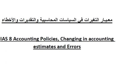 Photo of معيار التغيرات في السياسات المحاسبية IAS 8